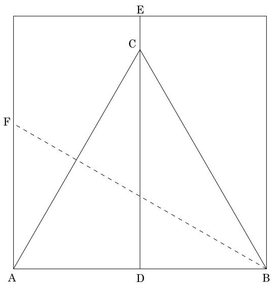 Origami: Construção de um triângulo equilátero - Demonstração