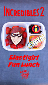 How to make a Disney Pixar Incredibles 2 Elastigirl fun lunch for your kids!
