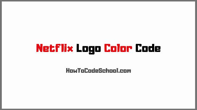 Netflix Logo Color Code