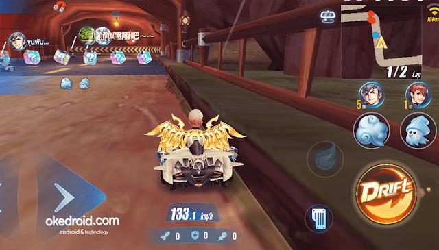 Contoh mode team item game mobile android balapan yang mirip CTR
