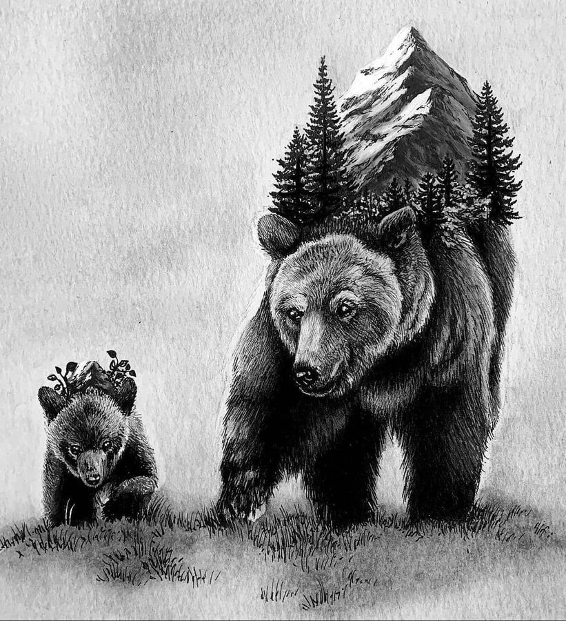 08-Bear-mother-and-baby-Alyse-Dietel-www-designstack-co