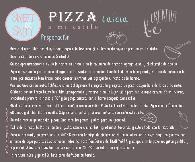Pizza casera - Preparación