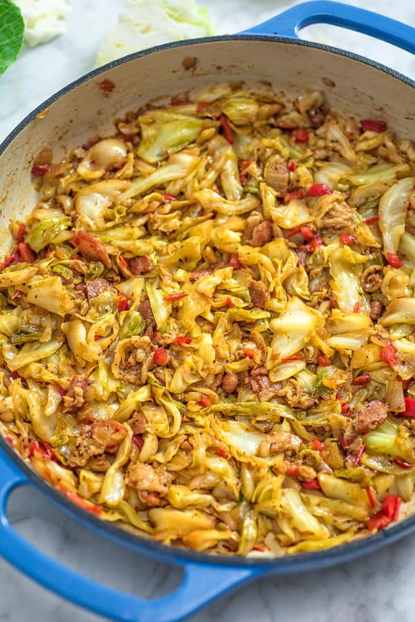 THE BEST AND EASY FRIED CABBAGE RECIPE