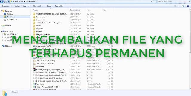 Mengembalikan File Terhapus