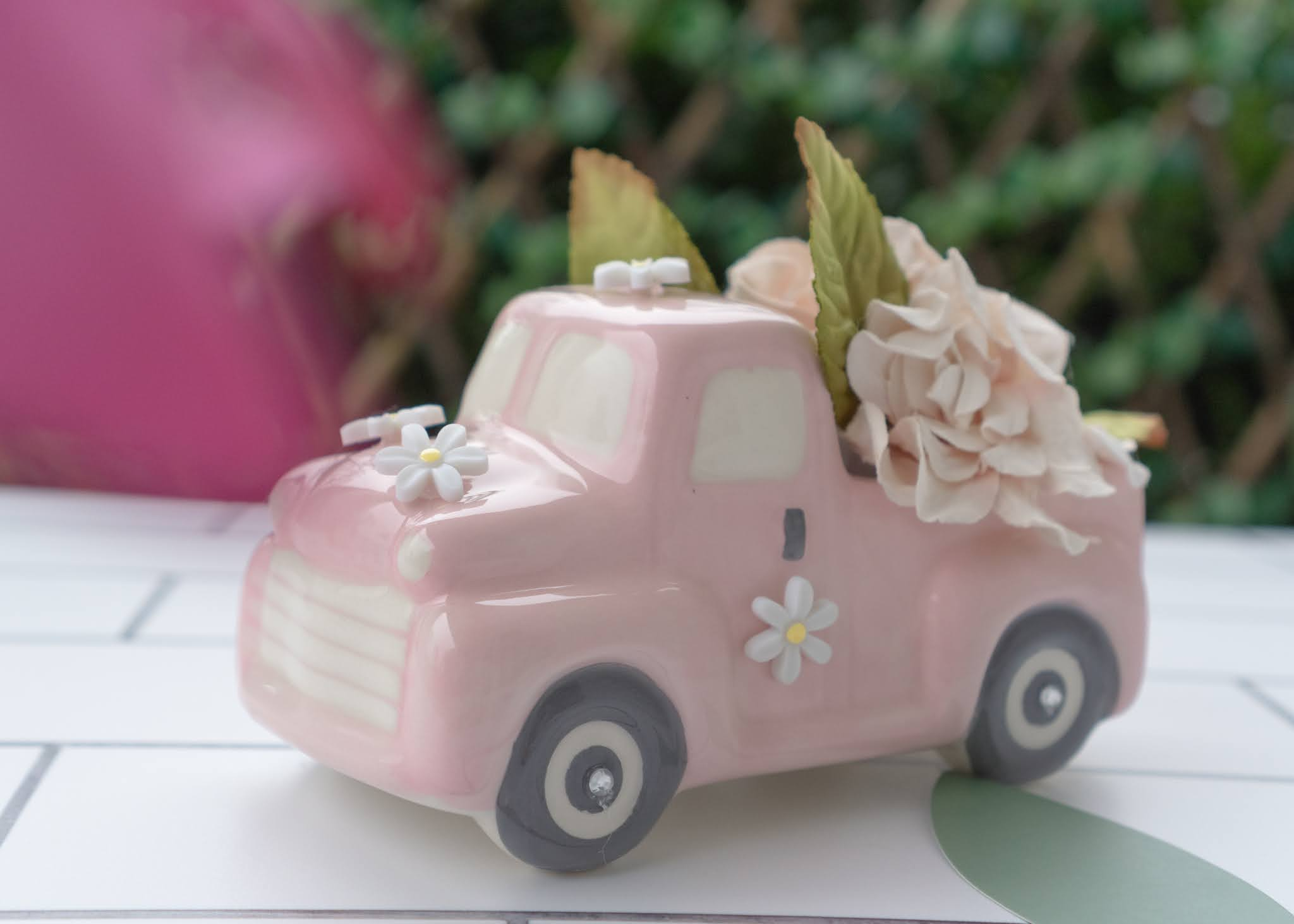 Embellishing Ceramic Trucks