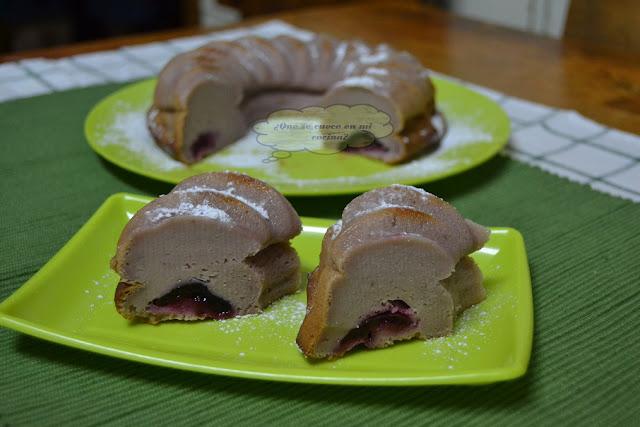 tarta de cerezas y requesón