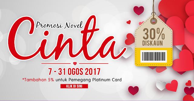 Bookcafe Ada Tawaran Istimewa 30% Promosi Novel Cinta