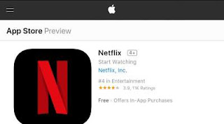 Download and Install Netflix App in IPhone App Store.