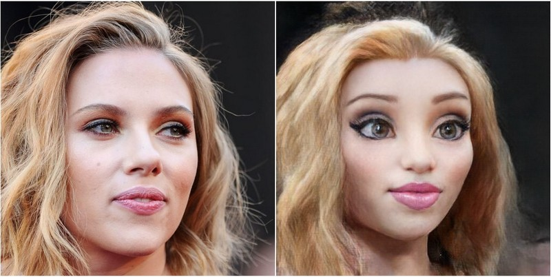 Scarlett Johansson toonify algorithm neural networks turns into disney character