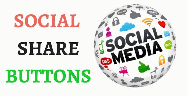 social media buttons blogger