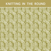 Twist Cable 25 - Knitting in the round