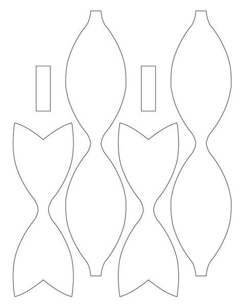 Moldes De Lacos De Feltro Para Imprimir Como Fazer