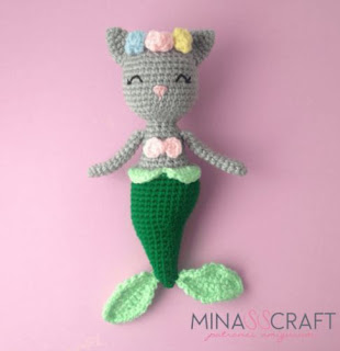 mermaid cat crochet pattern