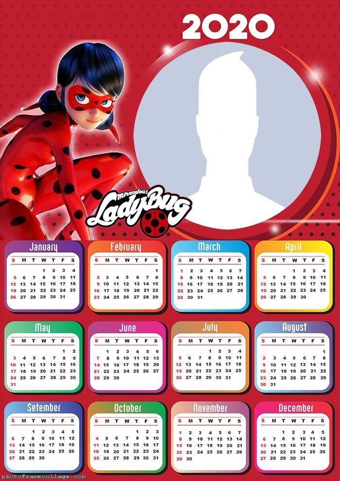 Prodigiosa Ladybug Calendario 2020 Para Imprimir Gratis Ideas