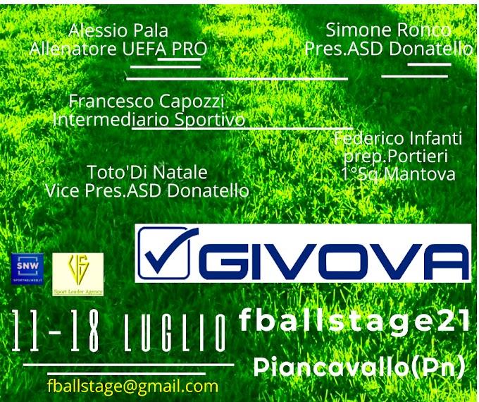 FBALLSTAGE  11-18 LUGLIO Piancavallo (Pn)