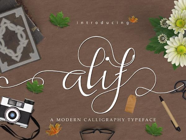 Alif Elegant Calligraphy Font Free Download