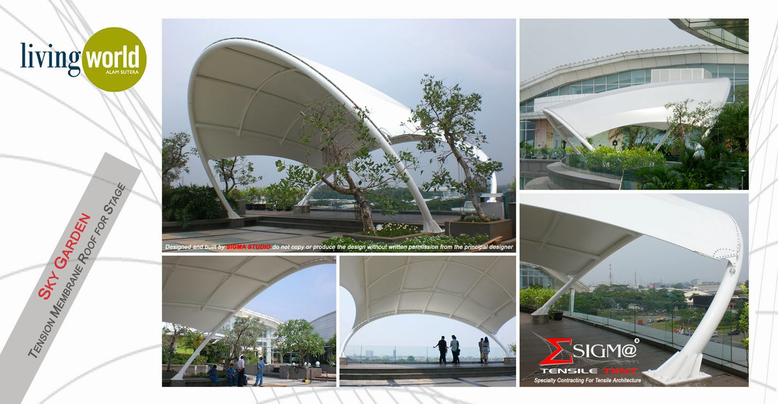 SIGMA Tensile Tent: Living World Sky Garden - Tension ...