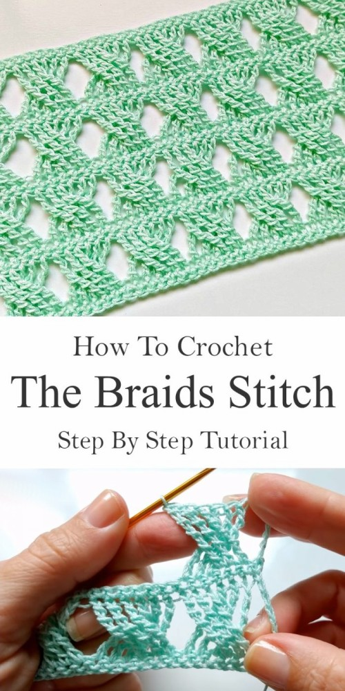 The Braids Stitch - Free Crochet Tutorial