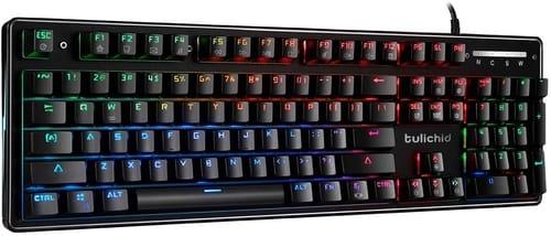 Review Tulichid Splash-Proof Mechanical Gaming Keyboard