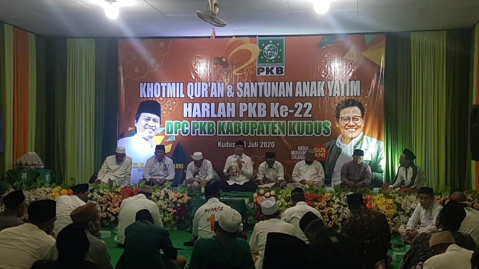 DPC PKB Kudus Gelar Khotmil Quran dan Santunan Anak Yatim