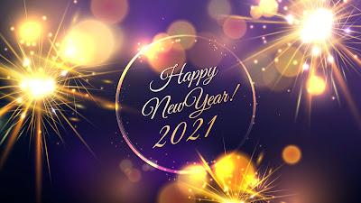 Happy New Year 2021 Fireworks background
