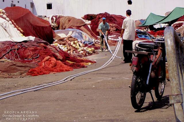 Port rybacki w Casablance i zapach atlantyckich ryb