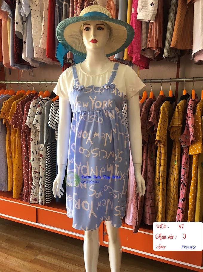 Đầm bầu thời trang công sở V7