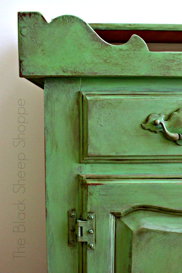 Custom mix of Chalk Paint in Antibes Green.
