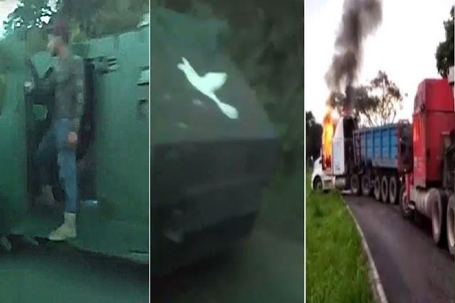 Video: Me dicen que son docenas de Sicarios del CJNG los que arribaron a Coalcomán para tomarlo a bordo de los Monstruos blindados