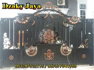 Foto pintu pagar besi tempa klasik minimalis Jakarta