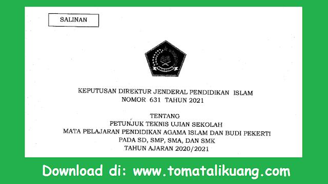 juknis ujian sekolah us pai dan bp sd smp sma smk tahun 2021 pdf tomatalikuang.com