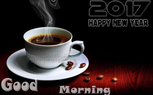 New Year 2017 Beautiful Good morning Photo Greetings