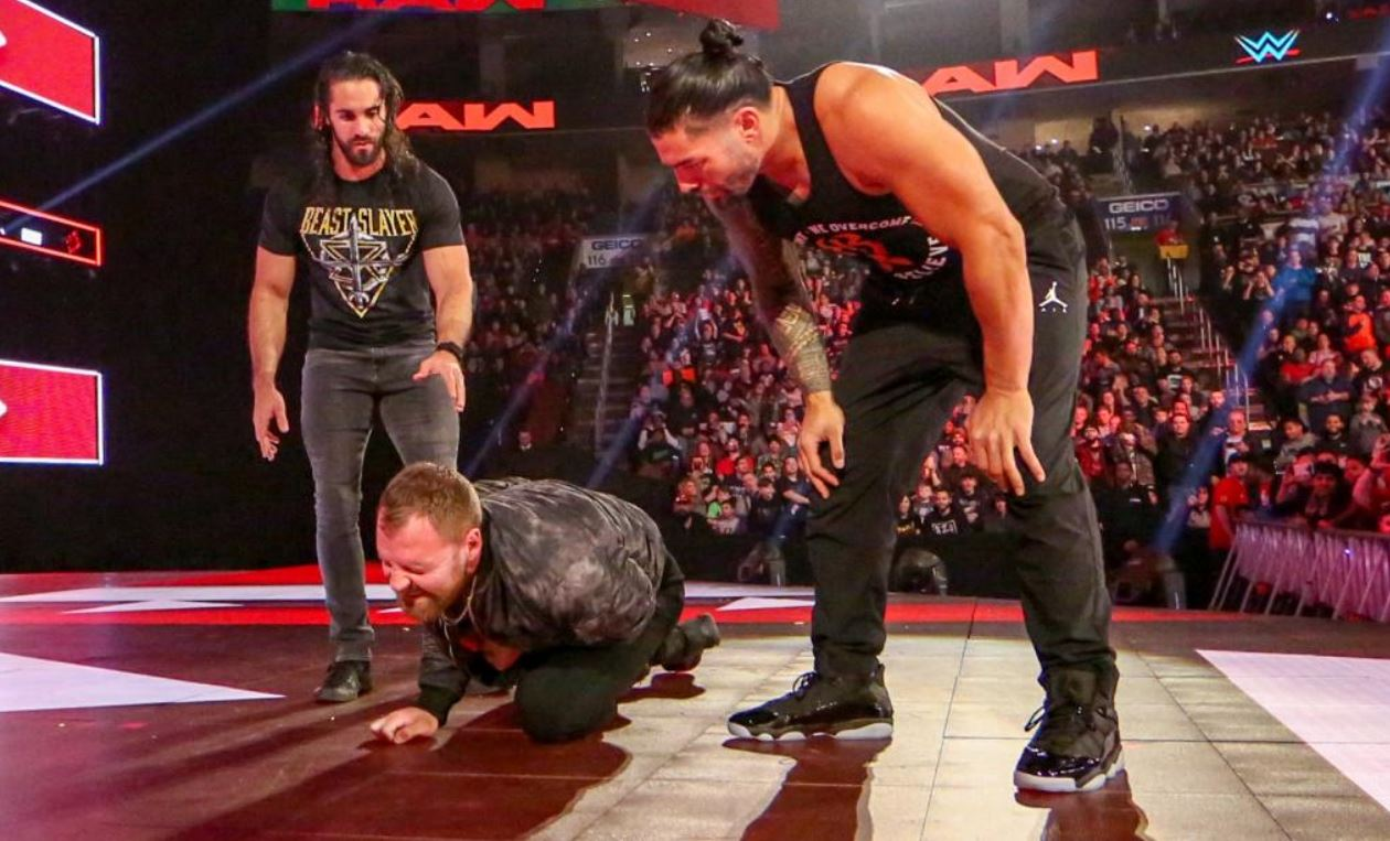 37f06151b58930 Last Week we seen Reigns Back on RAW wearing Air Jordan 4 s (View HERE) and  His week he is back at it rocking Air Jordan 6 Rings (Photos via WWE) Looks  Like ...