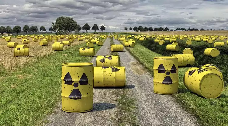 Nuclear Power Plants and Radioactive Material in a Nuclear Reactor