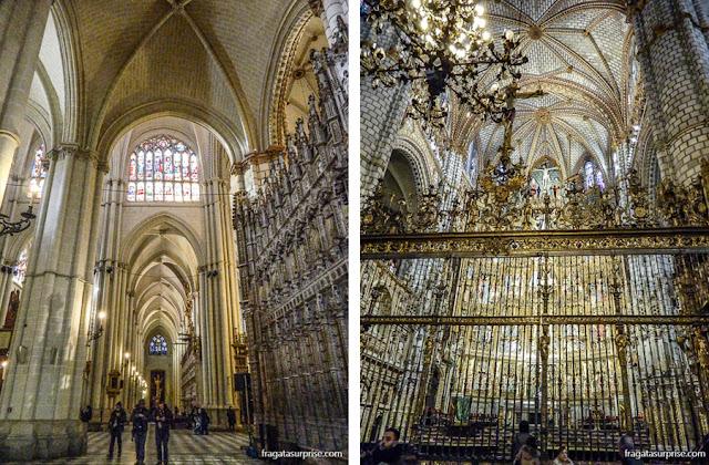 Interior da Catedral de Toledo, Espanha