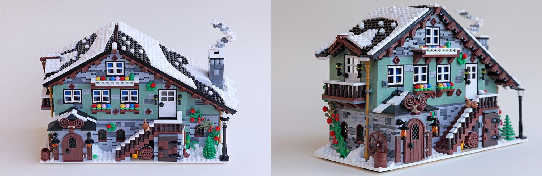 冬のロッジ:Winter Chalet