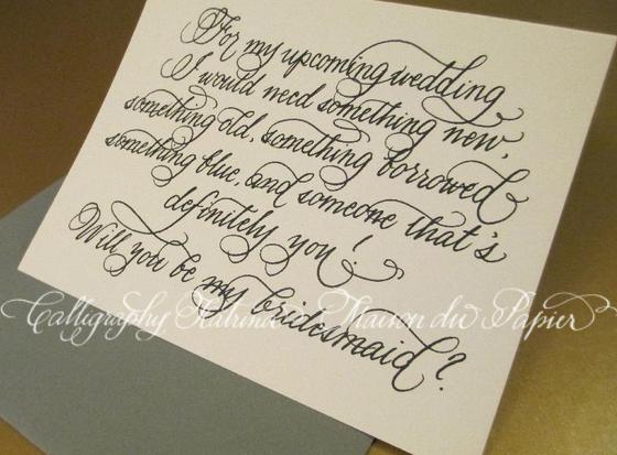Calligraphy Katrina And Maison Du Papier: Calling All