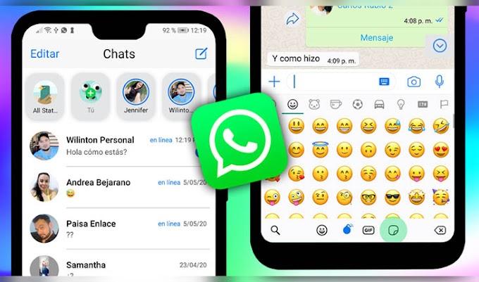 WhatsApp Estilo iPhone en Android 2020