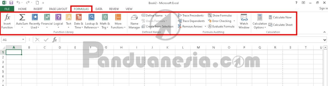 Fungsi Icon Microsoft Excel