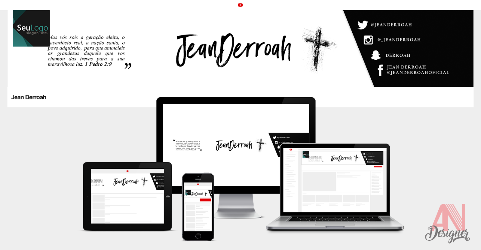 Capa de Youtube Jean Derroah