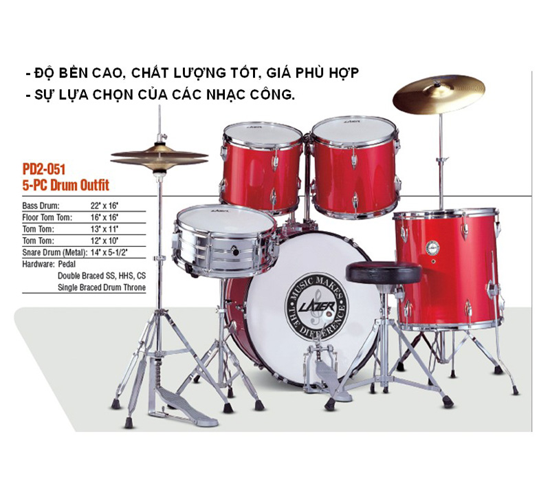 Trống Lazer Jazz PD2-051