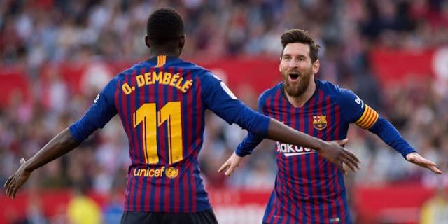 Hasil Pertandingan Sevilla vs Barcelona: Skor 2-4