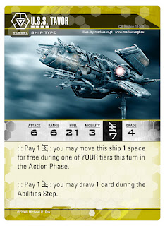 Dog Fight: Starship Edition Ship card Tavor