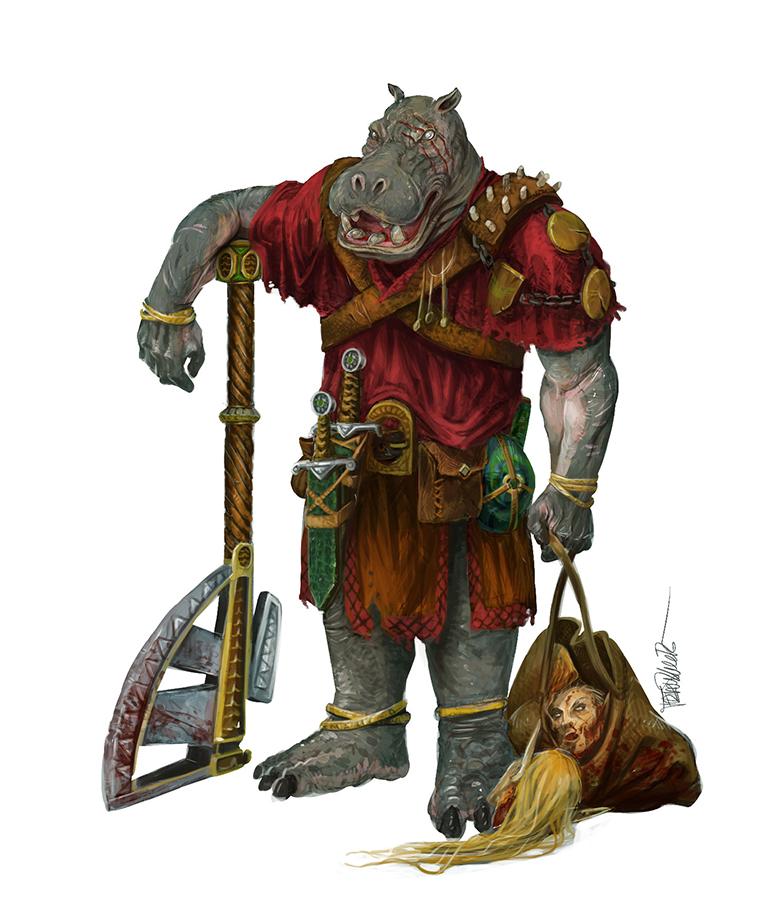 Fran Ilustración: hipotido,resurgir del dragon, griff spelljammer