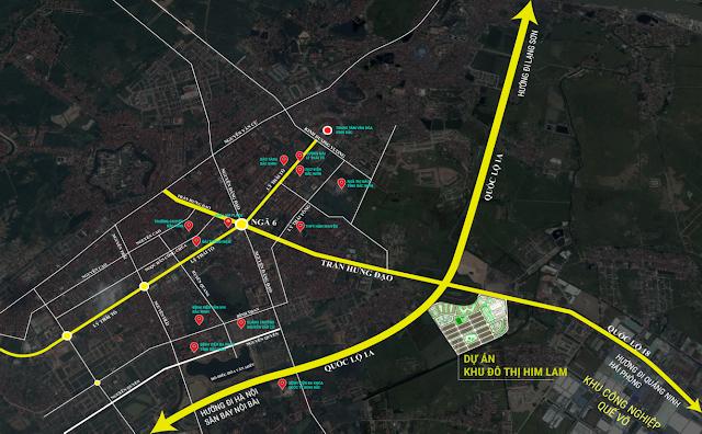 Kết nối hạ tầng của khu đô thị Him Lam