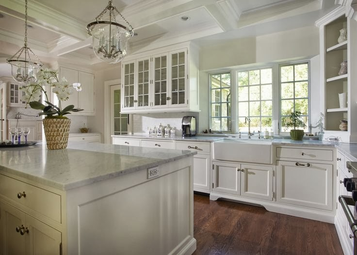 White kitchen by a talented home designer