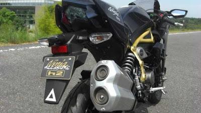 Modifikasi Z125 menjadi Ninja H2