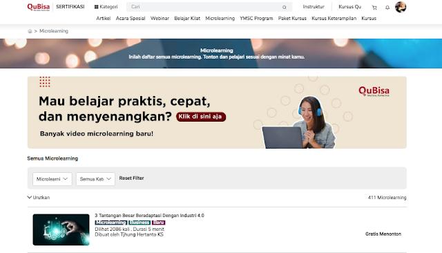 Kursus Online Indonesia gratis untuk menambah skill