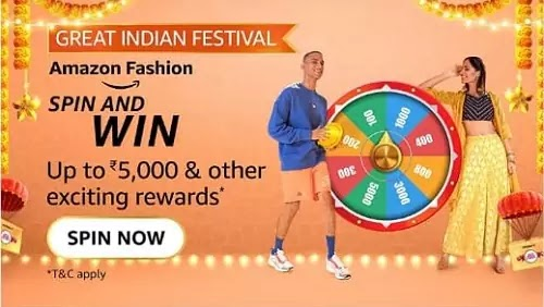 Which of the following is true for Amazon Fashion during Great India Festival?