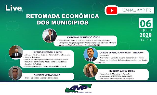 Diretor Jurídico e Procuradora do Município de Roncador, participaram de live promovida pela AMP